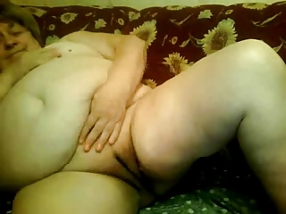 Fat Grandma naked front cam