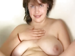 Wife with big saggy boobs & hairy cunt!