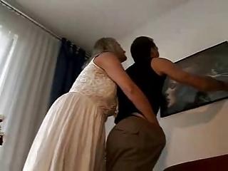 Horny mature couple having fun
