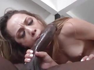Beautiful Girl Gets Her Face Coated In Black Cum