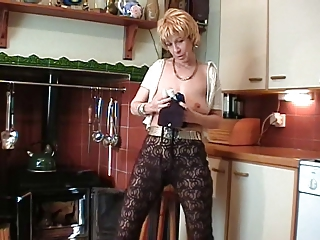 British Blonde Mature Does Striptease And Toys Her Pussy