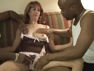 Mature with 2 BBC Creampie