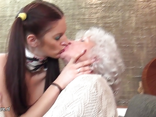Granny Norma fucks MILF and not her daughter