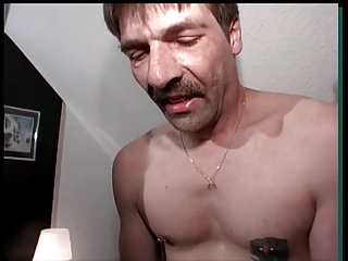 Husband watch when a stanger cum on wifes face