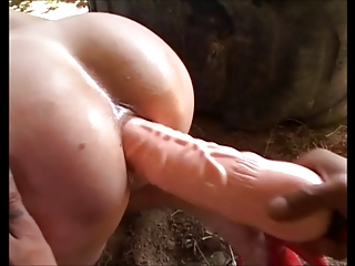 mature gets assfucked and eats cum from lucky dude