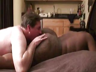 Licking big black ass!