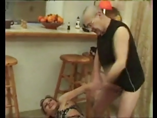 FRENCH MATURE n45a blonde anal mom and old man vieux perver