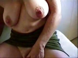 Granny masturbates big clit