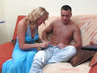 Russian mature Bridget with youthfuler man