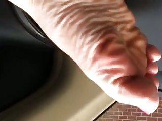 Foot fun in the car!