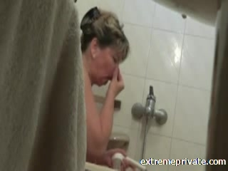 spy cam my showering Busty mother