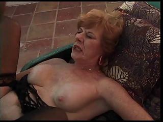 Mature Granny Sucks and Fucks a BBC