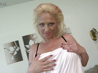Big breasted MILF dreaming of youthful cock