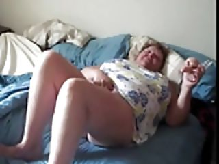 Fat granny horny masturbate while husband films