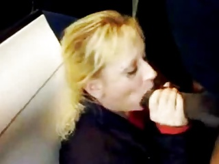 White Mature Bitch Sucking Huge Black Cock