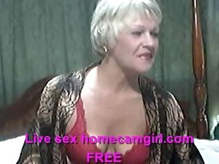 Mature takes off bra and panties to touch self on webcam_(new)