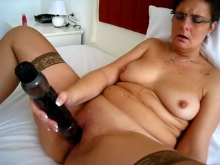 Mature slut and her big Toy