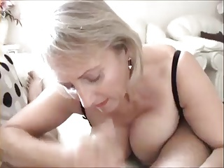 old slut granny sucks on cock