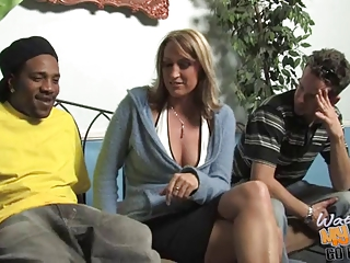 Mature mom fucked by BBC in front of son