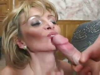 Blonde Mature Mother and Boy