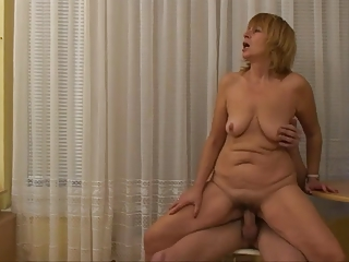 Granny Sucking Young Cock And Getting Fucked