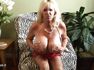 HOT Huge breasted mature GRANNY going wild