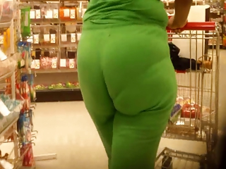 Lime Green Vpl Ass Booty Butt Wedgie