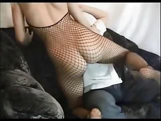 Amateur blonde wife fucked on sofa