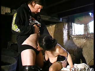 Hairy french mature hard sodomized by her husband