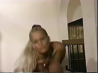 Curvy Huge Tits Mature On The Stairs