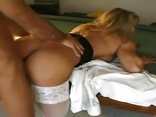 Sexy female milf bodybuilder gets it good