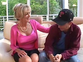 Older Women Seduces Young Man