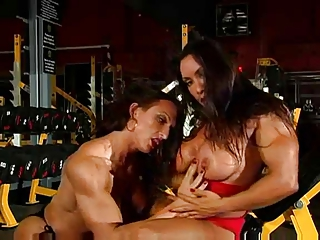 Lesbian Bodybuilders Working Out