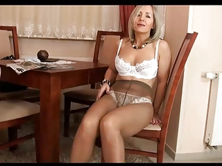 Milf ALA in pantyhose and thong