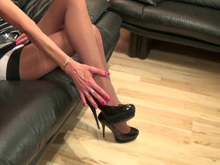 Shoe dangling video with Anique