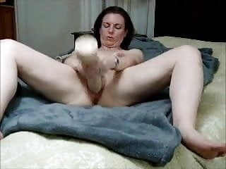 Superb milf popular dildo with the addition of spill