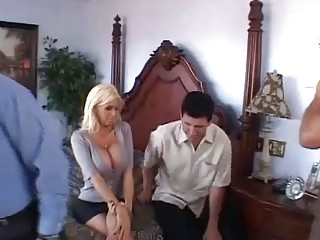 Busty Blonde Swinger Got Creampied
