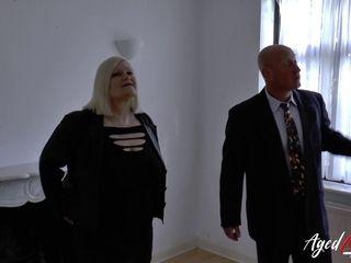 AgedLovE Mature woman Lacey Starr inhaling stiff cock