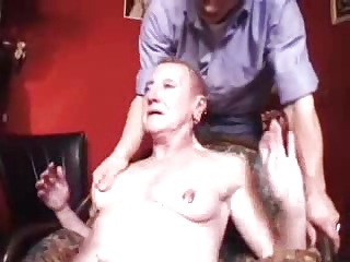 Pierced french granny with fist and anal plug