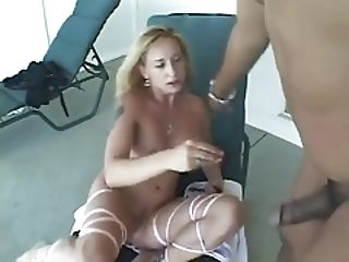 Hot White Wife Fucks Small Black Cock