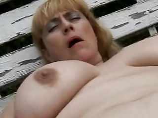 Mary, 48, giving herself an orgasm