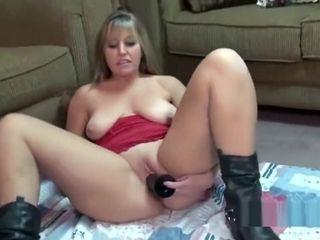 Mature Liisa smashes a yam-sized dark-hued fake penis