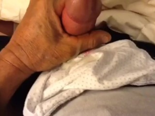 Nutting On Wife's undies