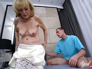 AgedLovE Grandma Hardcore shafting Exerience