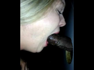 Connie Looper sucking dinky BBC convenient gloryhole
