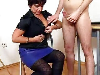 Wifey giving a handjob