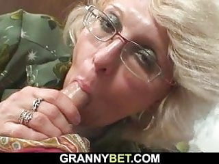 Her elderly fuck-hole is crammed with youthfull spear