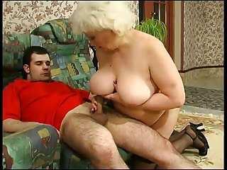 YOUNG HAIRY DUDE FUCKS OLD HAG