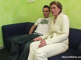 Granny fucked by a younger guy