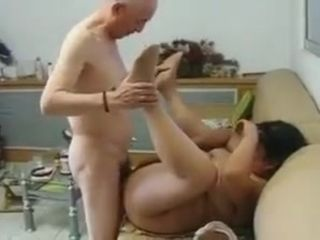 Chinese Granny Neighbour Gets Fucked unconnected with Chinese Grandpa